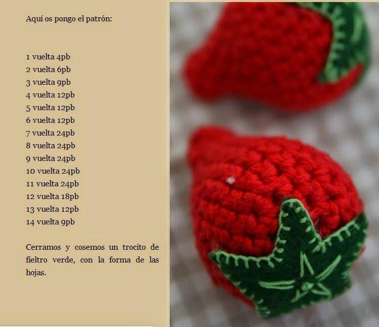 Morangos Em Croche Iii Com Imagens Frutas De Croche Alimentos