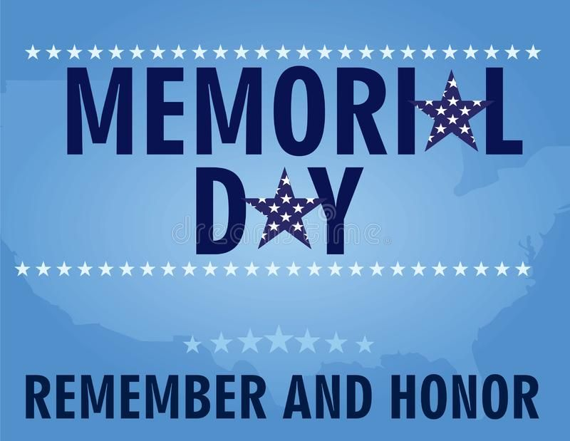 Memorial Day Card Vector Illustration Affiliate Day
