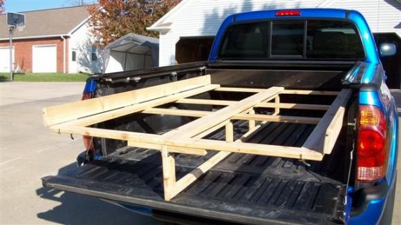 DIY Folding Plywood Rack for Pickups Carpentry