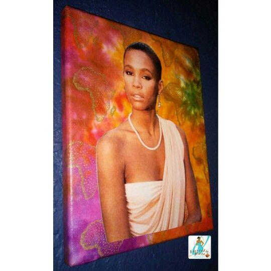 Whitney Houston Canvas Wall Art 8x10 $12 #whitneyhouston #whitneyhouston80s #iwillalwaysloveyou #foreverwhitney #ripnippy