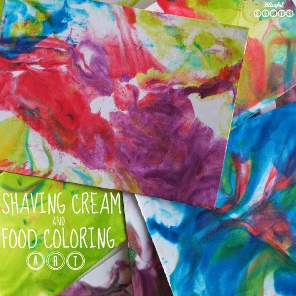 Shaving Cream & Food Coloring Art For Kids (BLISSFUL ROOTS ...