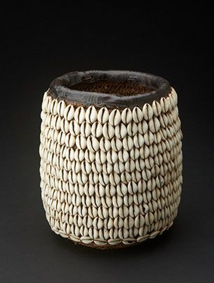 Africa | Cowrie shell basket from Nigeria | The Hausa people of the north, used baskets such as this for storing items.