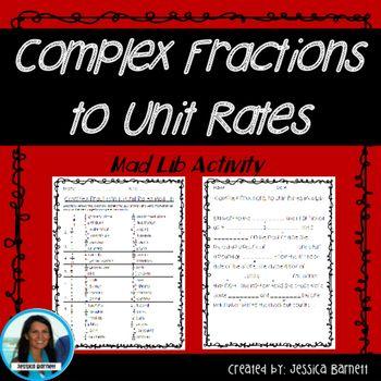 Complex Fractions To Unit Rates Activity Mistory Lib Co