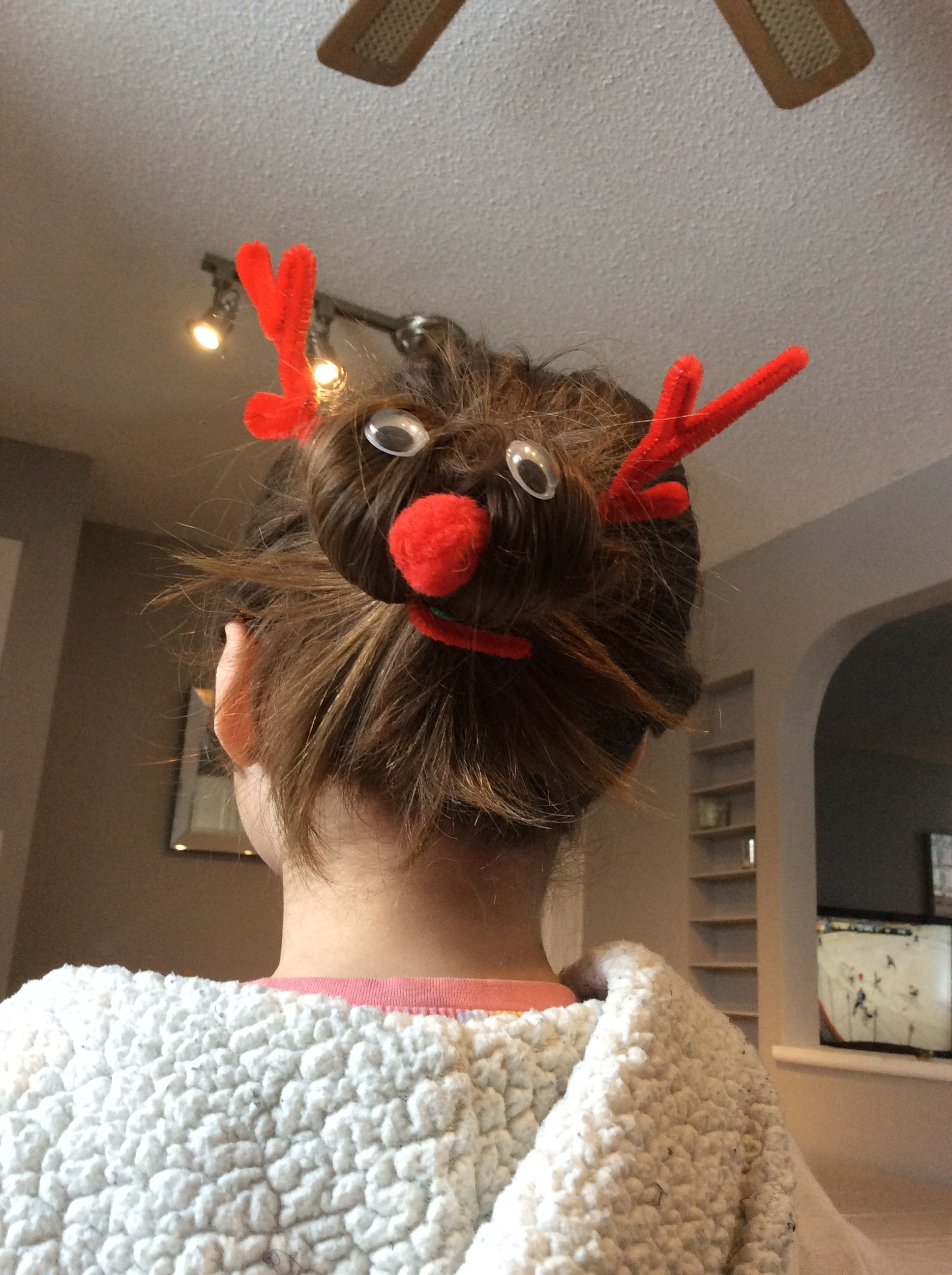 Rudolph the red nosed raindeer hair style!