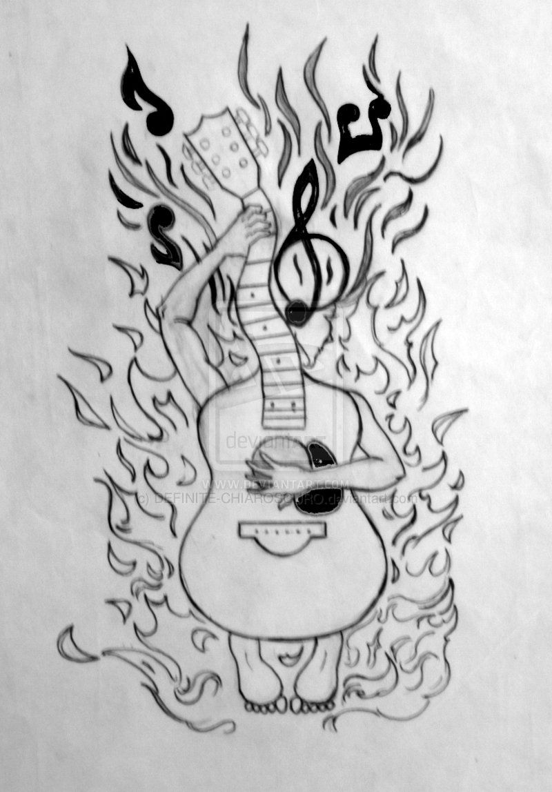 Perfect Sketches Of Gb And Paper Tattoo Design Pencil And Ink Xerox Paper By Definite Chiar Guitar Tattoo Design Paper Airplane Tattoos Picture Tattoos