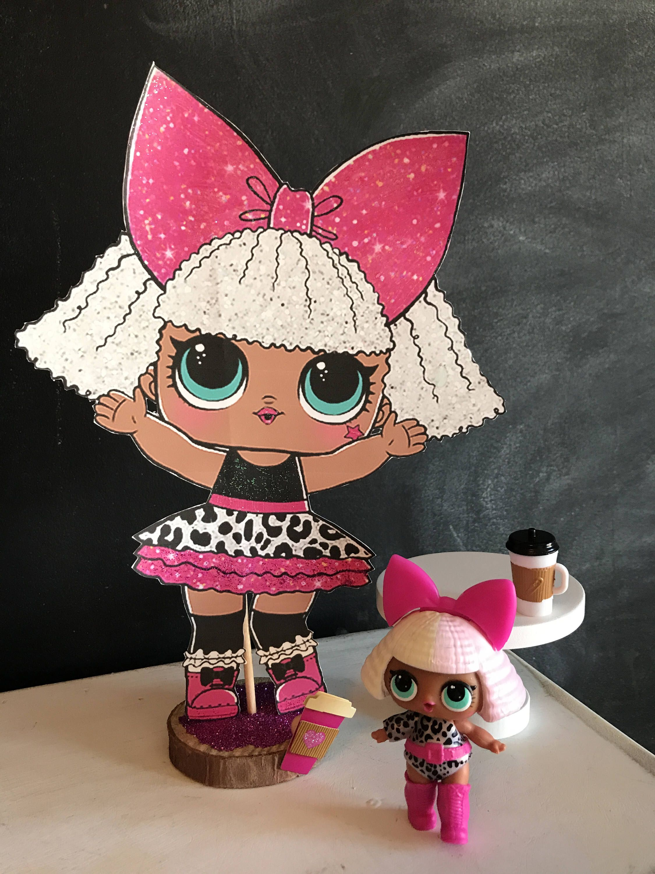 Pin by christina reyna on lol surprise party ideas surprise party decorations lol dolls doll - Diva lol surprise ...