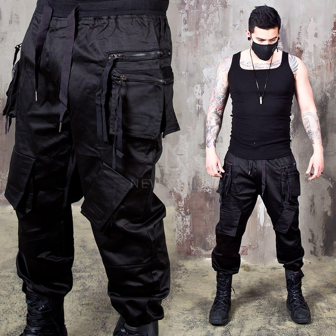Double zippered techwear cargo banded pants 300 in 2020
