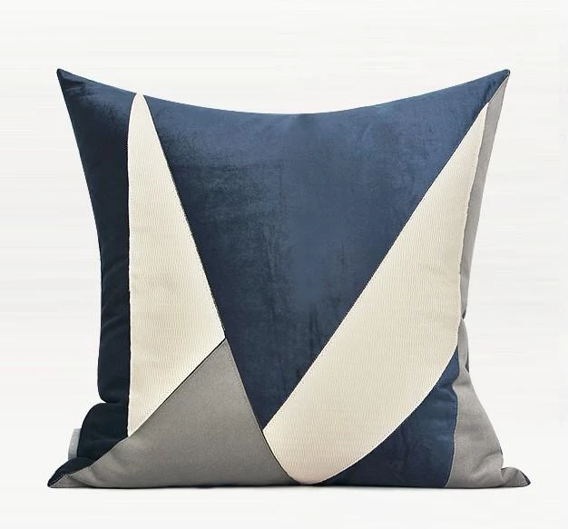 Blue White Gray Simple Style Modern Throw Pillow Sofa Pillows Couch Pillows Home Decor Modern Throw Pillows Couch Pillows Sofa Pillows