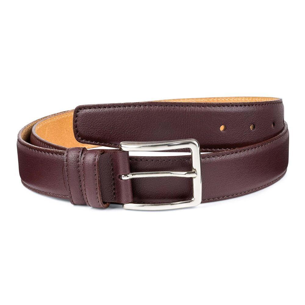 2d73a22b523 Men s Burgundy Belt 100% Genuine Leather Fashion Casual belts for Man Size  34