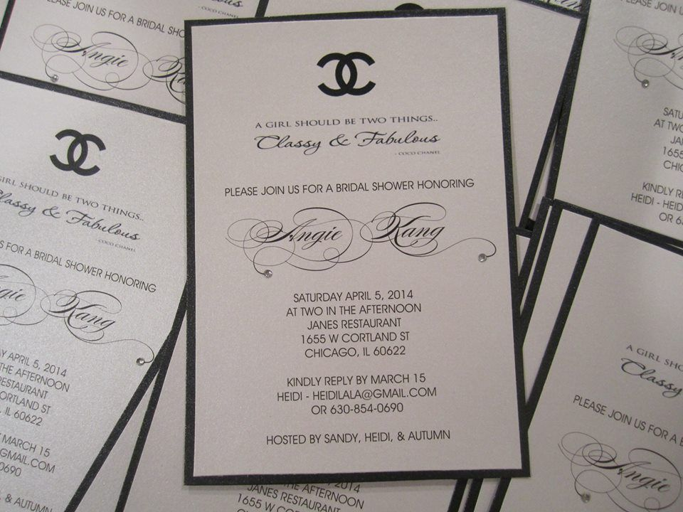 Crystalizing These Custom Made Chanel Themed Bridal Shower