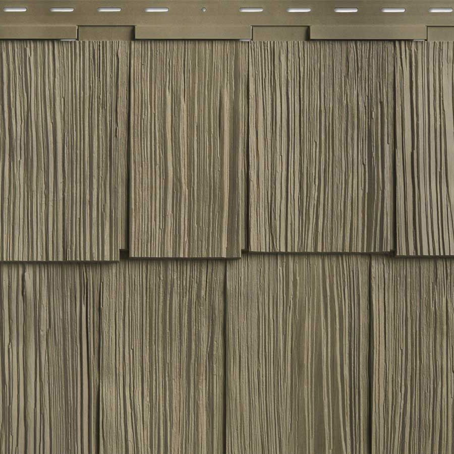 Shop Georgia Pacific Vinyl Siding Cedar Spectrum 20 375 In X 57 5 In Shaded Cedar Wood Grain Vinyl Shake Siding Georgia Pacific Vinyl Siding Cedar Vinyl Siding