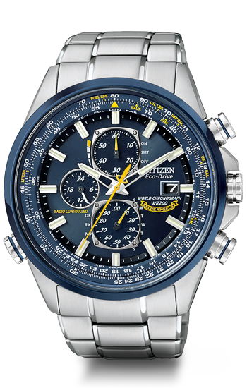 ddb35ddcc4a Citizen Citizen Eco-Drive Blue Angels World Chronograph A-T AT8020 ...