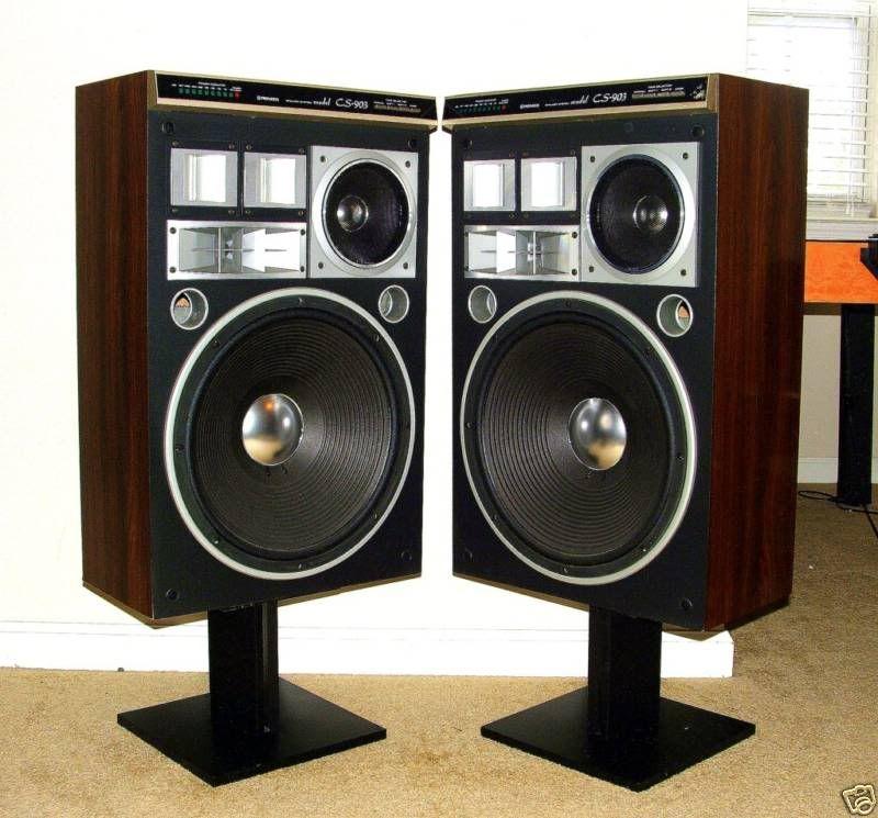 Pioneer CS 903 Floor Standing Speakers With Stands