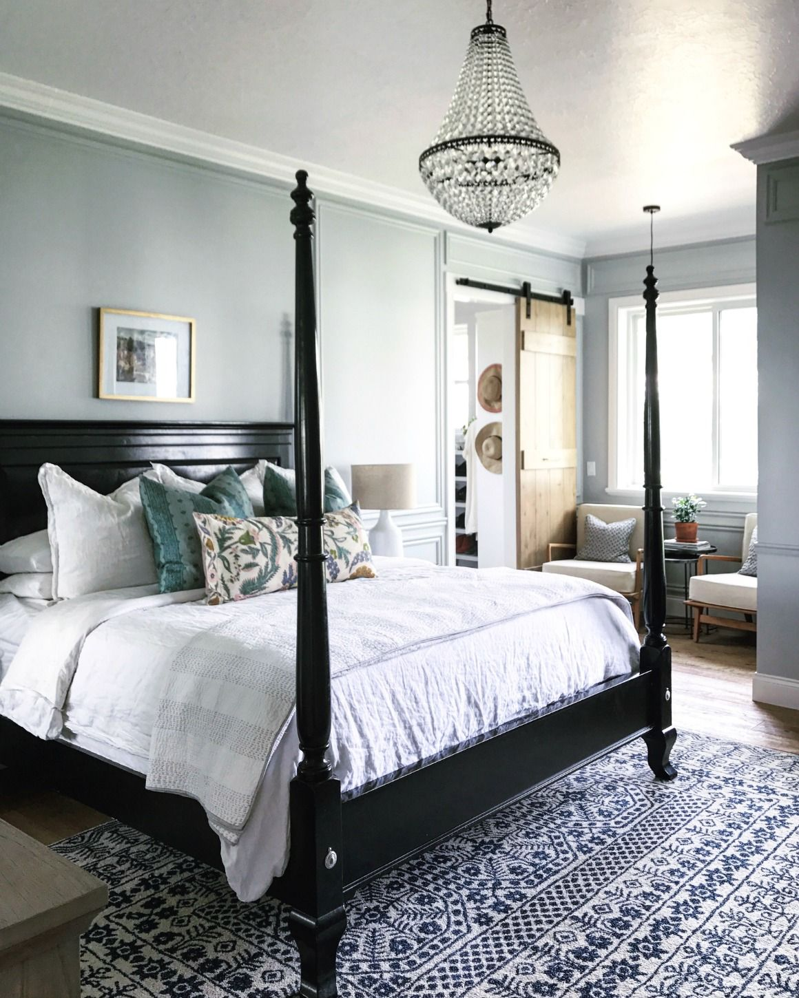 Light Gray Room master bedroom and bath tour- mixing old and new | master bedroom