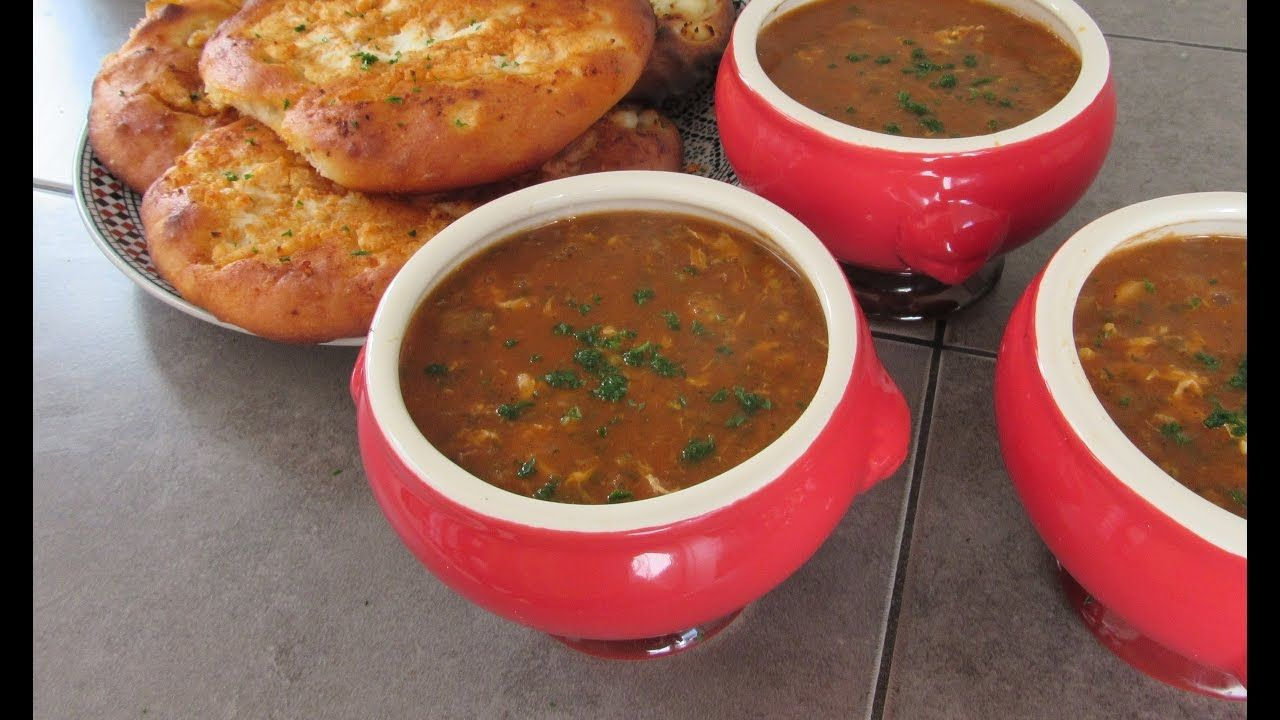 اكلات رمضان الحريرة أو الشوربة المغربية بدون دقيق Moroccan Soup La