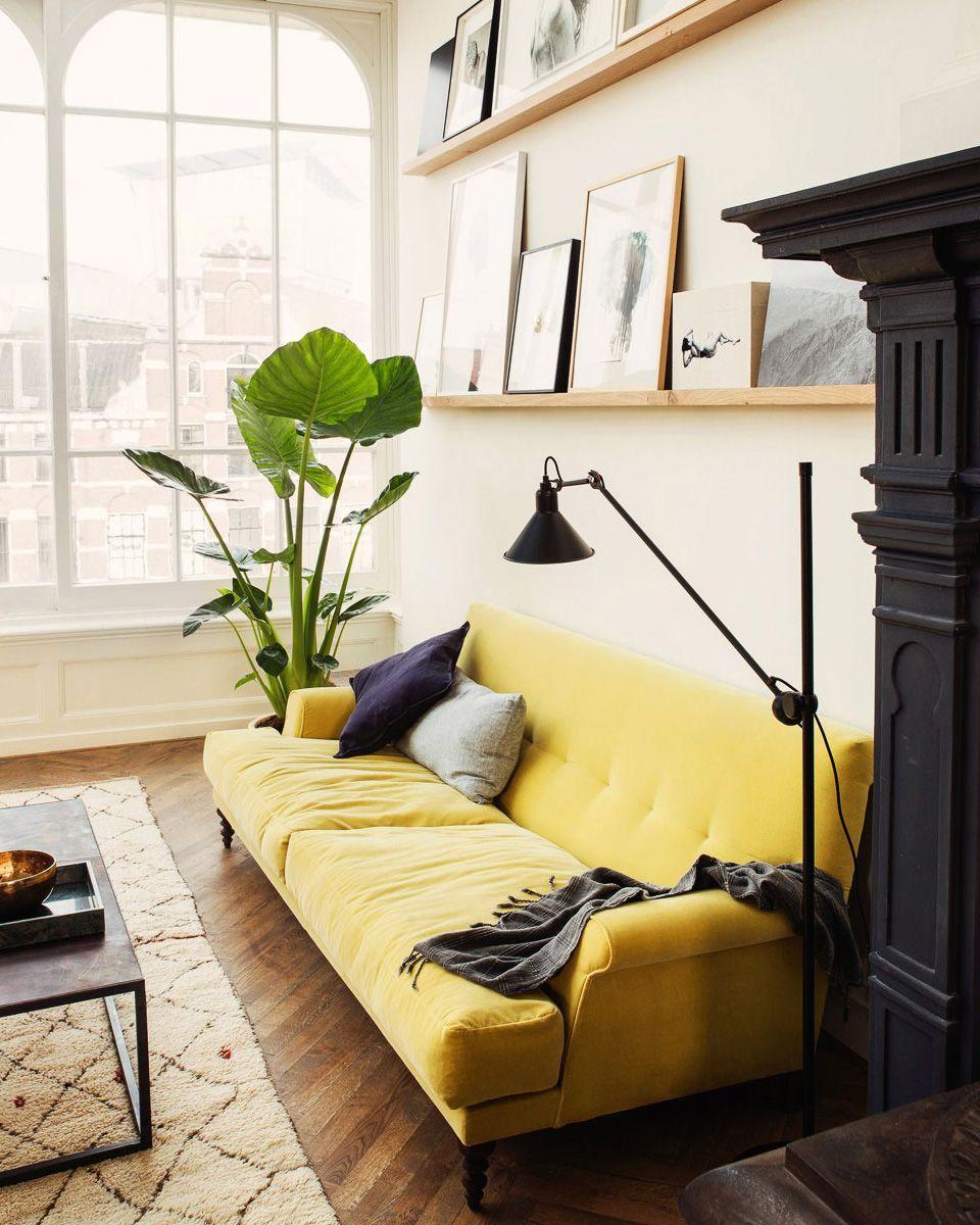 Comment utiliser le jaune dans sa déco ? | Salons, Front rooms and ...