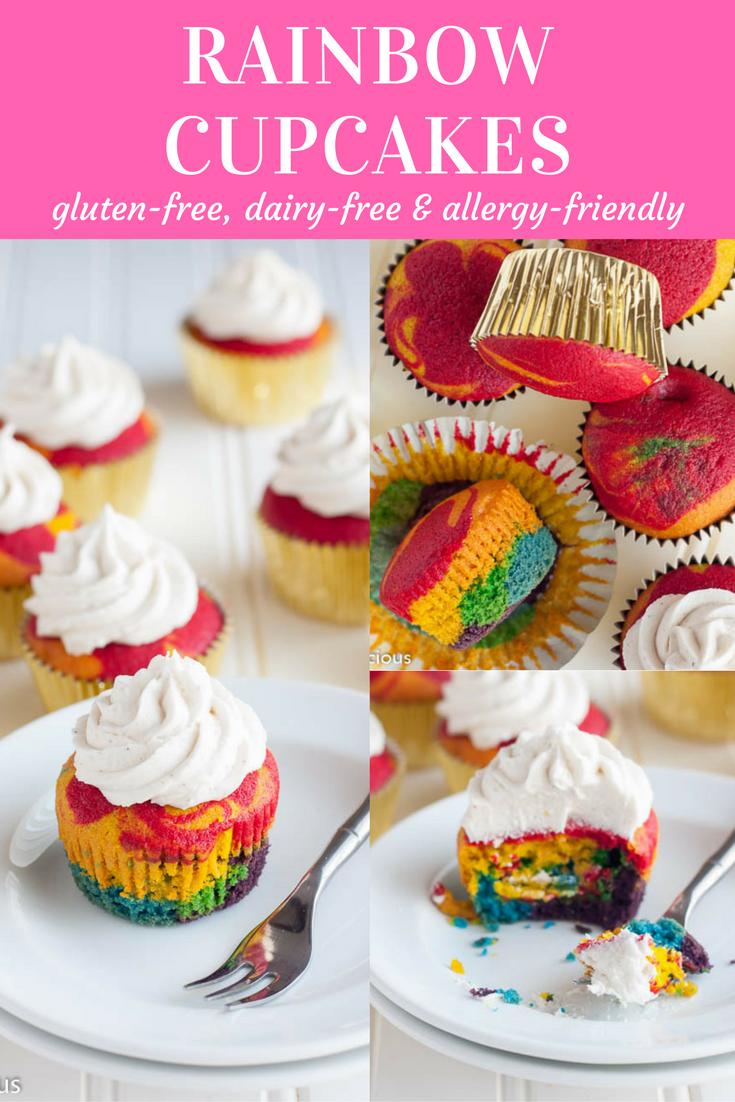 Gluten Free Rainbow Cupcakes Recette Cuisine Sans Gluten Recette Et Sans Gluten