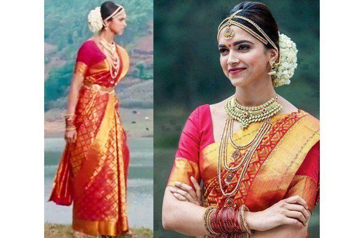 Deepika Padukone In Wedding Saree Movie Wedding Dresses Deepika Padukone Saree Deepika In Saree