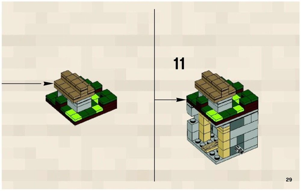 Lego Minecraft Micro World The Village Instructions 21105