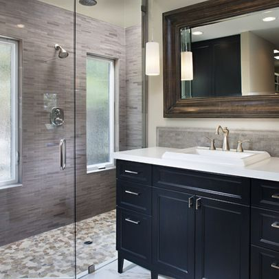 grey and tan bath design ideas, pictures, remodel and