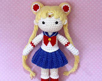 Amigurumi Doll Anime : Sailor moon plush amigurumi doll crochet pattern only digital