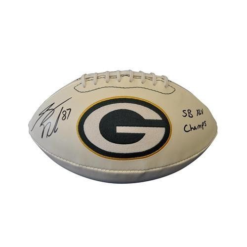 """Jordy Nelson Signed Football - Logo w/ """"SB XLV Champs - Autographed Footballs by Sports Memorabilia. $145.00. This item was hand signed by the athlete at a Private Autograph Signing and is accompanied by a Certificate of Authenticity from SportsMemorabilia  A tamper-evident hologram will be affixed to the item. Signed items are guaranteed to pass any third-party authentication with 100% Money Back Guarantee. Each signature is witnessed by a member of our staff o..."""