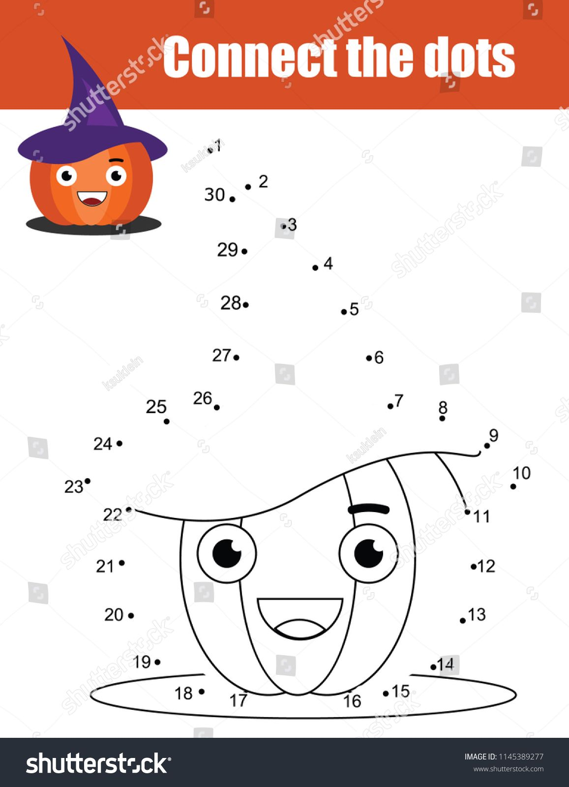 Connect The Dots Children Educational Drawing Game Dot To