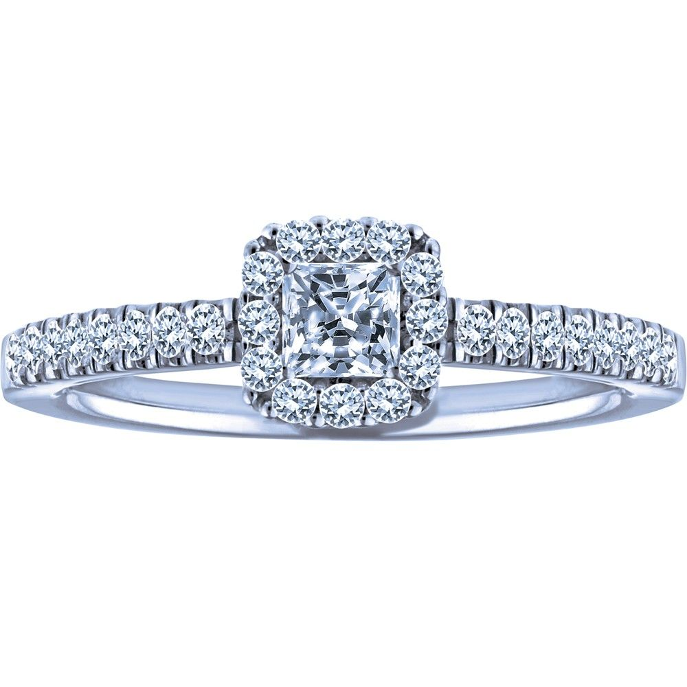 010 Carat Canadian IceTM Centre Diamond 10k Certified White Gold Engagement Ring