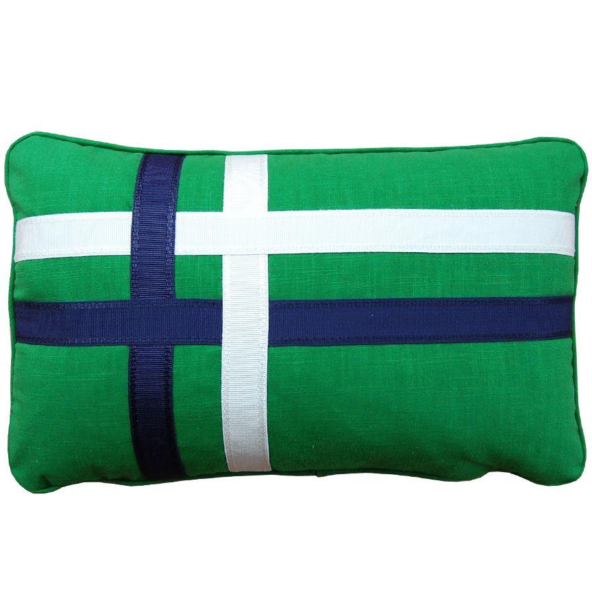 Tristan Navy Green Designer Pillow Pillows Navy And Green