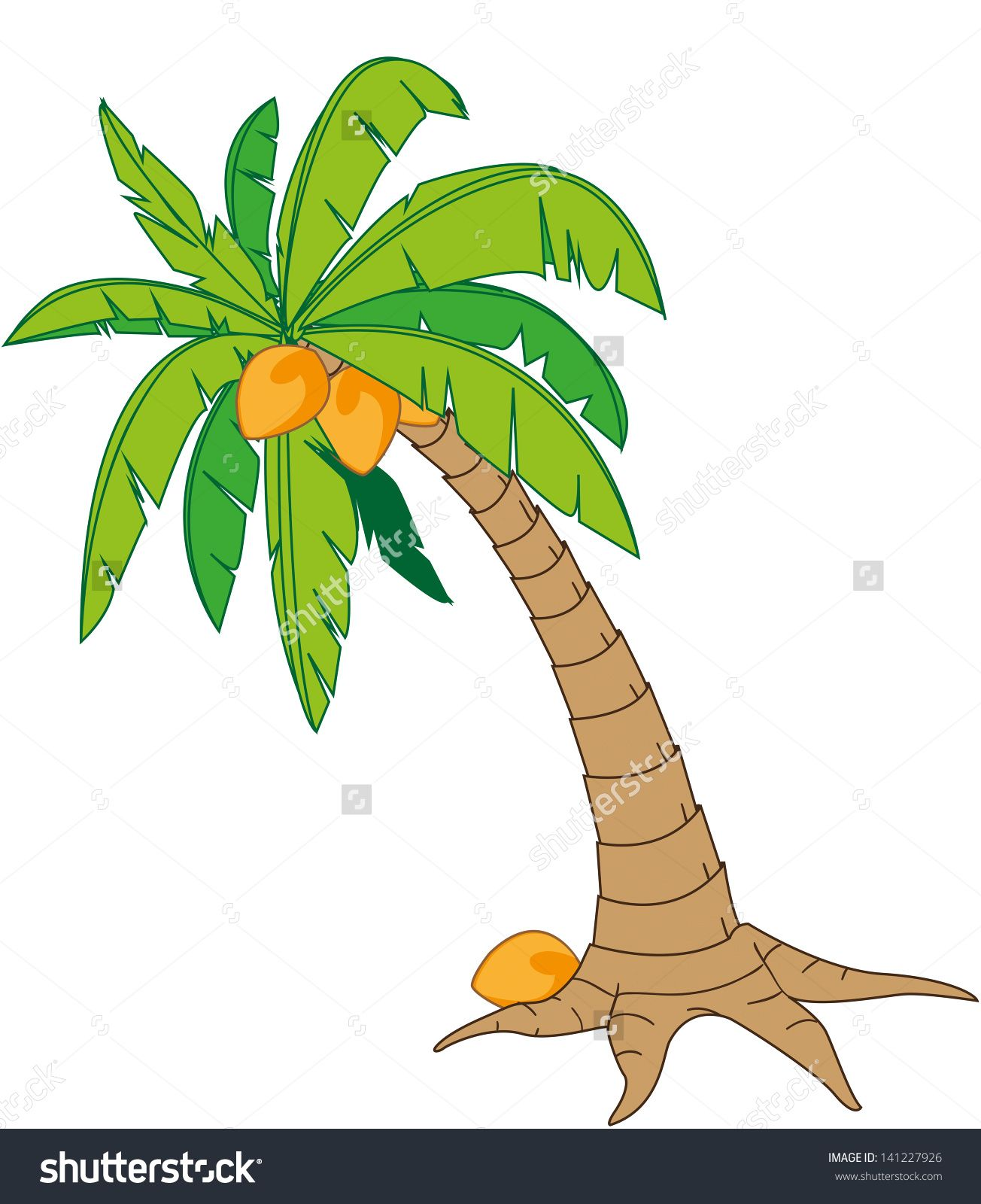 coconut tree in cartoon style isolated on white stock vector rh pinterest ca coconut tree drawing clipart coconut tree drawing clipart