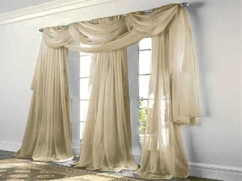 Set Of 2 84 Long Black Sheer Voile Curtains Tailored Curtain