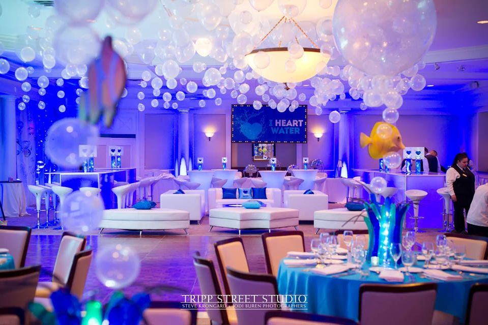 Underwater Themed Bat Mitzvah With Custom Lounge Bubbles
