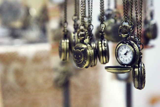 hanging pocket watch necklaces
