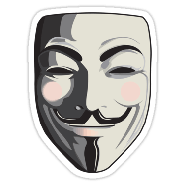 Guy fawkes mask sticker