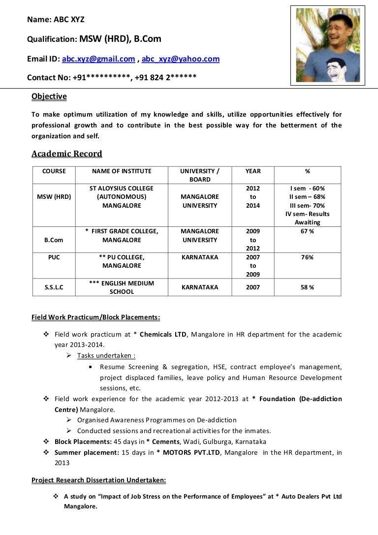 Freshers CV Format Job resume template, Best resume