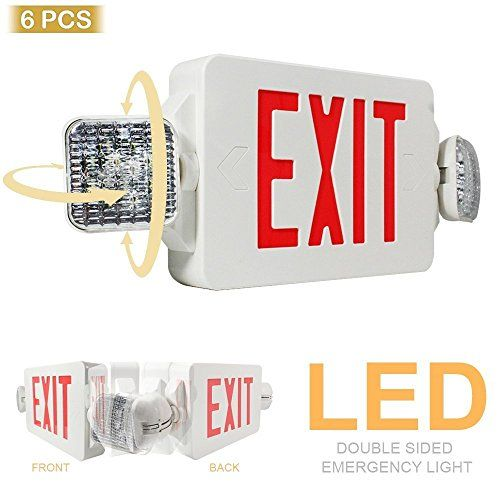 eTopLighting 6PCS LED Exit Sign Emergency Lighting Emergency LED - exit letter