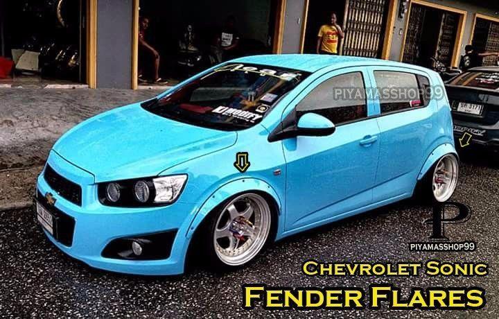 New Set For Chevrolet Sonic Fender Flares Wheel Arch Premium Sheet