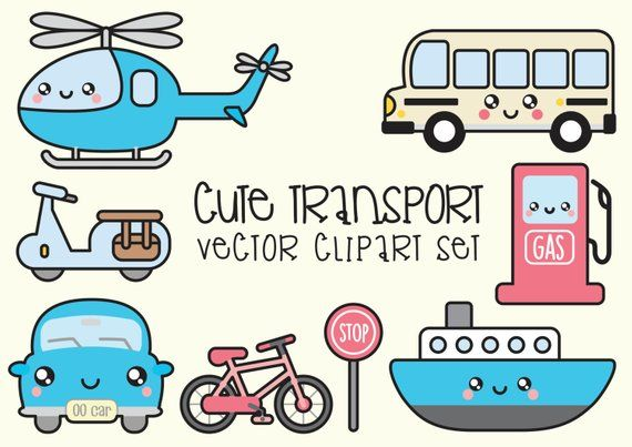 Kawaii Transport Clipart