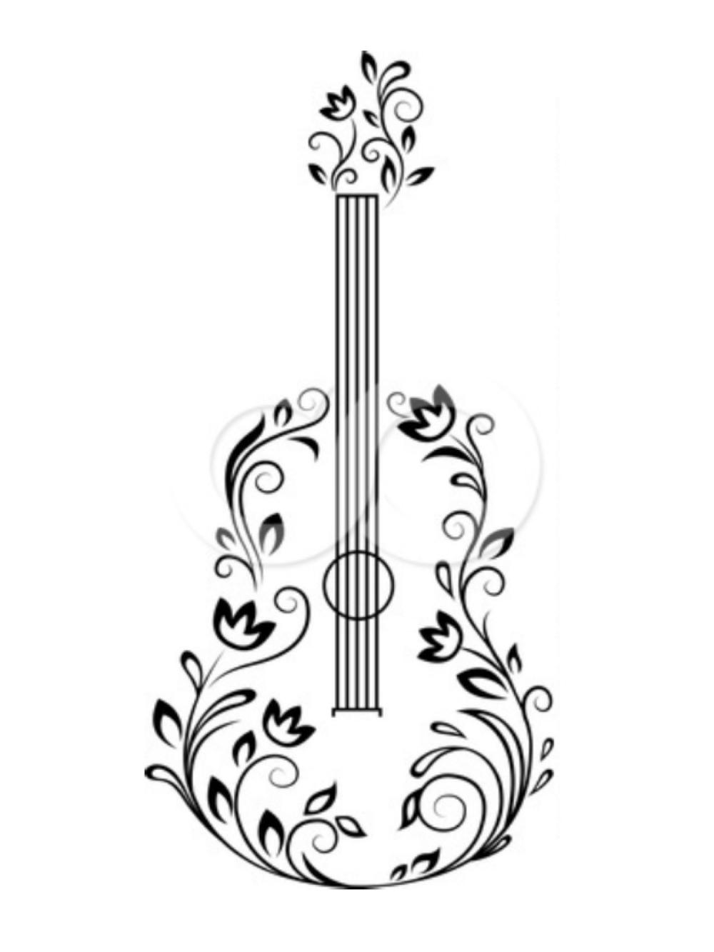 Guitar Clipart Classic Guitar Classical Guitar Drawing