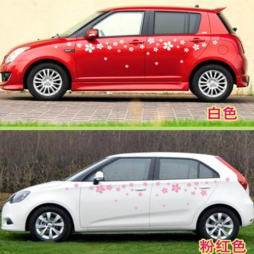 Car Flowers Door Decal For Swift Vinyl Graphics Side Stickers - Graphic design stickers for cars