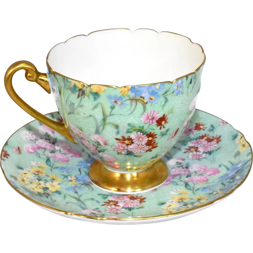 Shelley Melody Chintz Teacup And Saucer