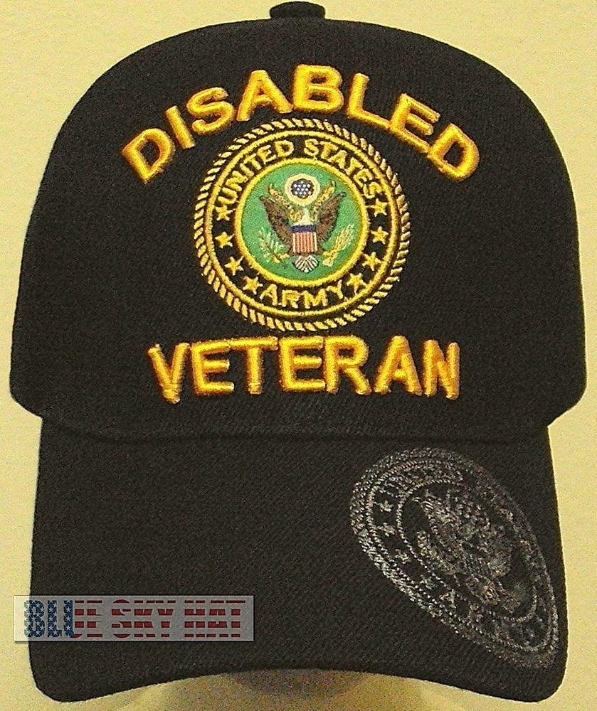 b2d3ec311cf LICENSED PATCH DISABLED U.S. ARMY VETERAN VET DAV MILITARY INSIGNIA LOGO CAP  HAT  PREMIUMHATS  BaseballCap