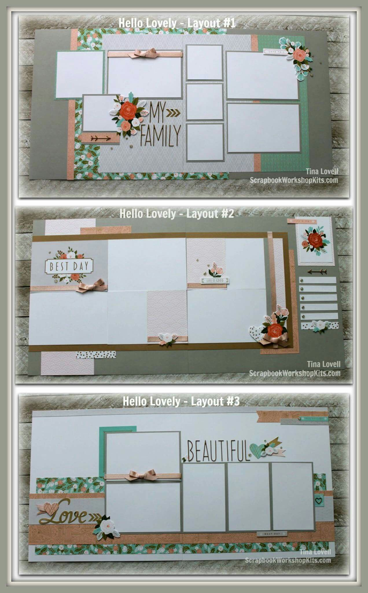 Nice Layout Ideas Misc Pinterest Scrapbooking Layouts And