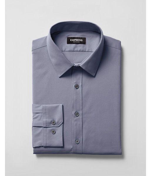 Extra Slim Solid Wrinkle Resistant Performance Dress Shirt