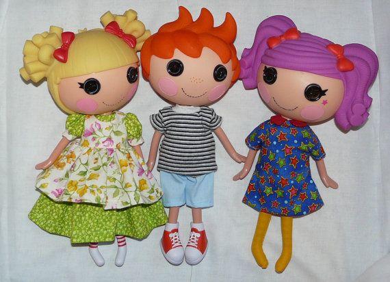 Amigurumi Doll Lalaloopsy Pattern : Lalaloopsy doll clothes pdf sewing patterns set of cute outfits