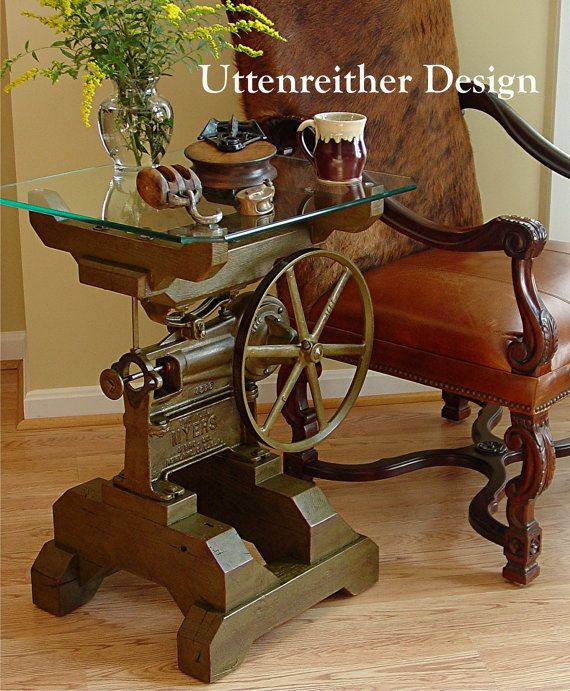 attractive ideas steampunk furniture. Vintage Industrial Artifact Side Table door UttenreitherDesign  Steampunk Accent