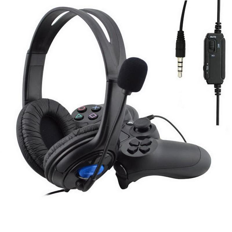 3.5mm Wired Headphone Game Gaming Headphones Headset With