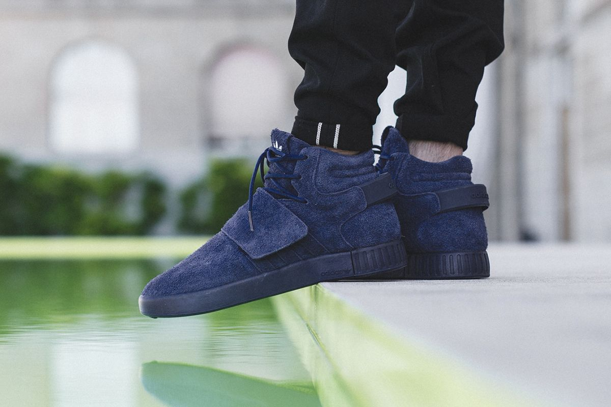 Bb 5040 Men 's adidas Originals Tubular Invader Strap Sesame S Lime