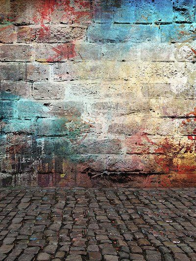 Kate Colorful Brick Graffiti Wall Retro Background For Studio Best Background Images Studio Background Images Dslr Background Images