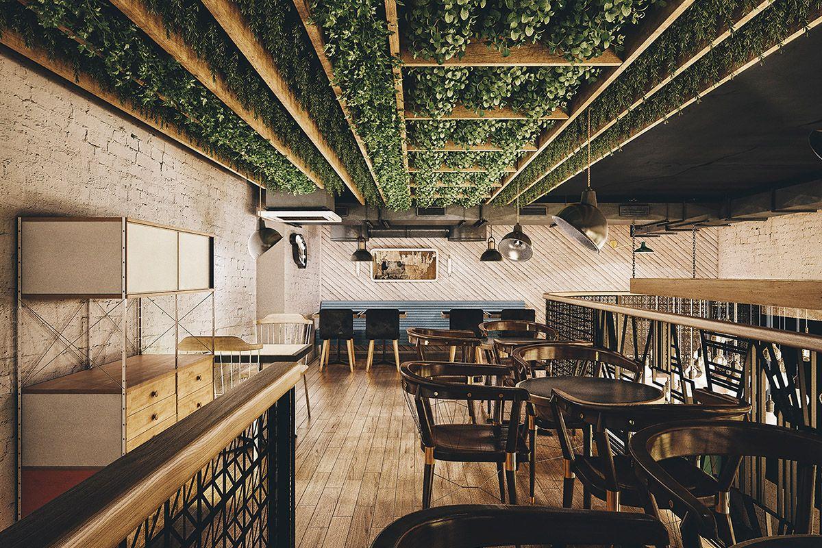 Bureau Le Restaurant : Le restaurant holy smoke par le bureau bumblebee Вдохновение